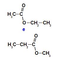 Etanoato de etila e propanoato de metila são isômeros de compensação