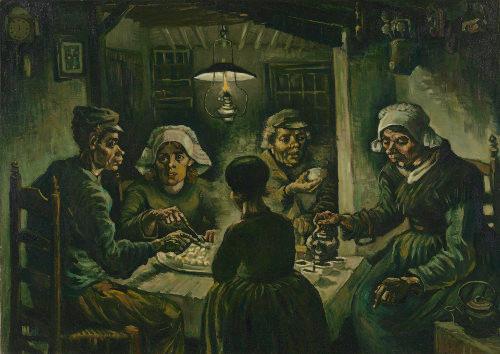 Os comedores de batatas, de 1885, é a primeira obra de destaque de Van Gogh
