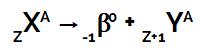 Equação que representa a segunda lei da radioatividade