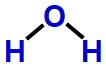 Fórmula estrutural de H2O