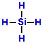 Fórmula estrutural do SiH4