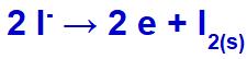 Equação de formação do iodo sólido
