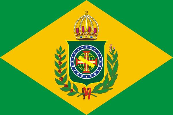 A atual bandeira do Brasil foi inspirada na bandeira do período imperial