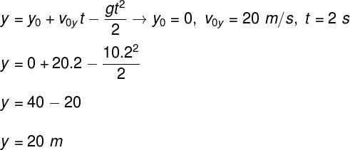 Cálculo da altura máxima