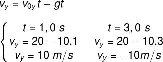 Cálculo das velocidades