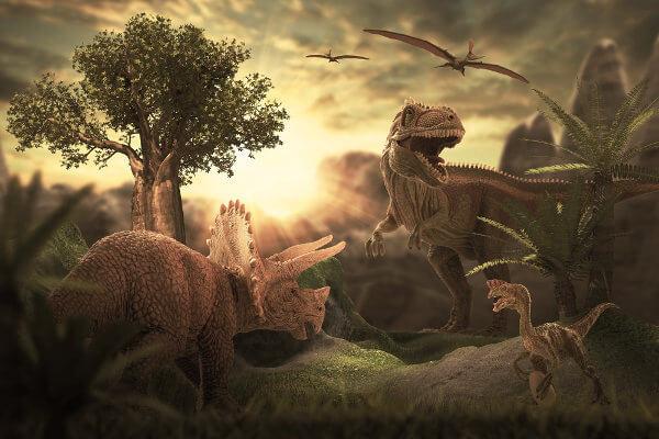 Os dinossauros acabaram seu domínio na Terra após uma grande extinção em massa.