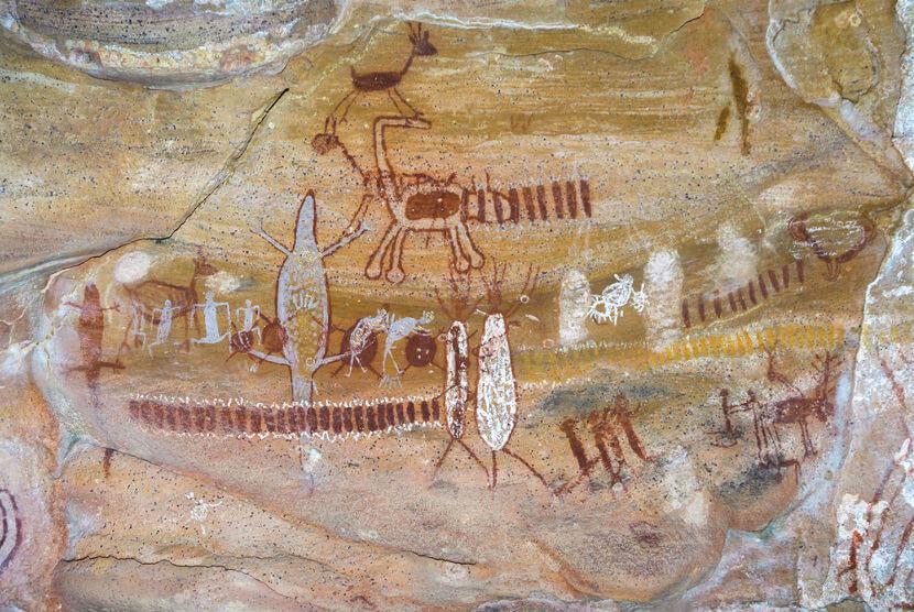 A Serra da Capivara é um dos sítios de pintura rupestre mais famosos do Brasil.