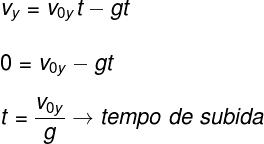 Fórmula do tempo de subida