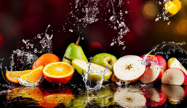Alguns alimentos destacam-se por apresentar alto teor de água.