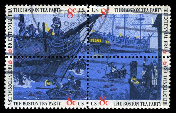 A Festa do Chá de Boston foi uma demonstração da insatisfação dos colonos com a metrópole.*