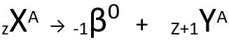 Equação genérica da segunda lei da radioatividade.