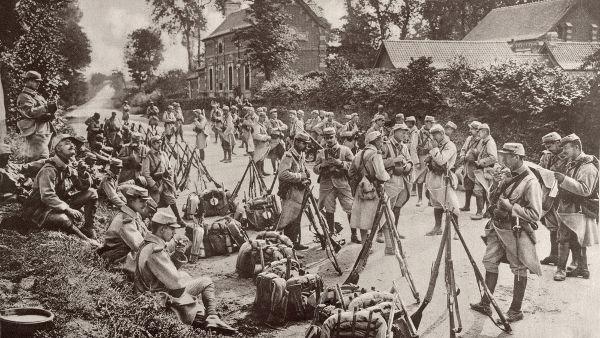 Tropas francesas durante a Primeira Guerra Mundial