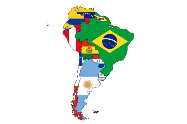 A América do Sul é composta por 12 nações, sendo a maior delas em área o Brasil.
