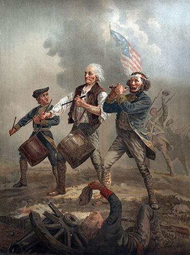 Na Revolução Americana, os colonos lutaram contra a Inglaterra pela sua independência.