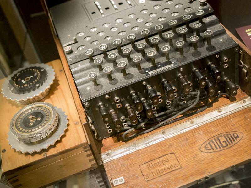 Enigma era a máquina usada para criptografar mensagens.