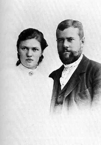 Max e Marianne Weber, em 1894.