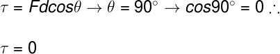 Em razão de seu ângulo com a direção horizontal, a força normal não realiza trabalho.