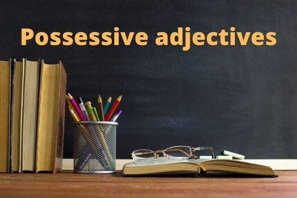 Os adjetivos possessivos fazem parte de uma frase nominal.