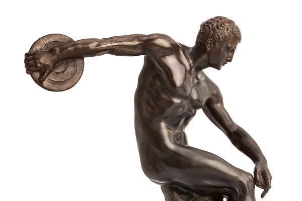 Discóbolo de Míron é o símbolo do curso pela representação da vitalidade e perfeição dos movimentos corporais.